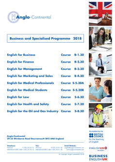 Business & Specialised Programme 2018
