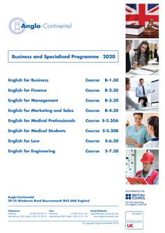Business & Specialised Programme 2020