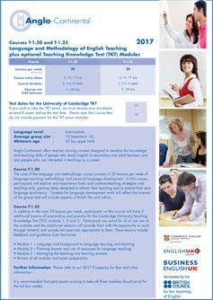 Language and Methodology of English Teaching Flyer