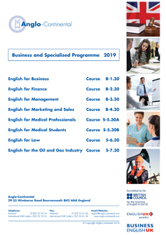 Business & Specialised Programme 2019