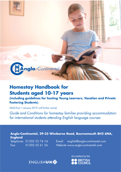 Homestay Handbook for Young Learners 2019