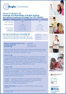 Language and Methodology of English Teaching Course - Anglo